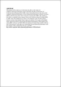 pengaruh kinerja keuangan terhadap nilai perusahaan dengan pengungkapan corporate social responsibil Pengaruh pengungkapan corporate social responsibility  terhadap kinerja keuangan dan nilai perusahaan (studi komparatif  pada perusahaan multinasional yang terdaftar di bursa efek indonesia dan  bursa.